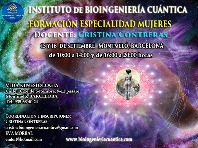 Especialidad Mujeres Cris 15 y 16 sep 2018
